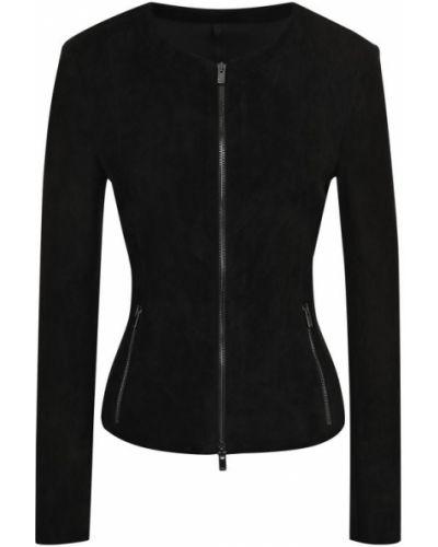 Черная куртка приталенная Drome
