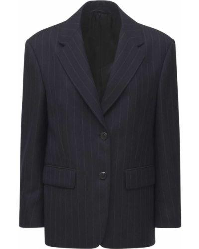 Шерстяная куртка - синяя Prada