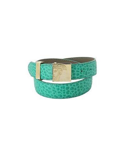 Ремень зеленый Versace Collection