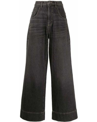 Широкие джинсы на пуговицах Tre By Natalie Ratabesi