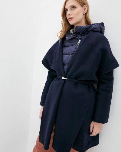 Синее зимнее пальто Add