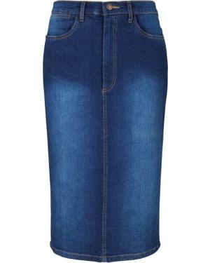 Джинсовая юбка макси стрейч Bonprix
