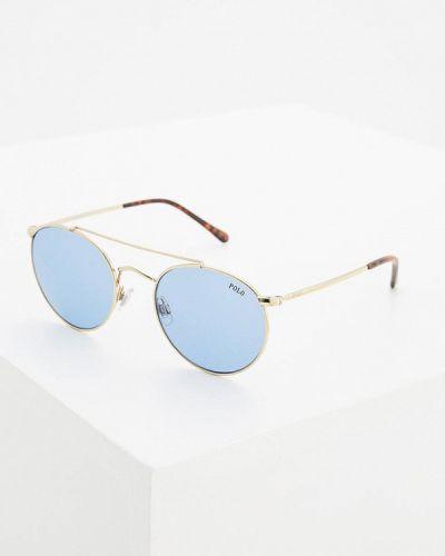 Солнцезащитные очки золотого цвета Polo Ralph Lauren