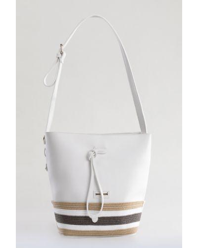 Белые очки кожаные Monnari