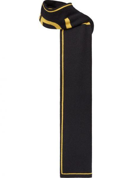 Z kaszmiru żółty szalik Fendi