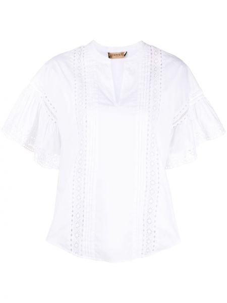 Блузка с вышивкой - белая Twin-set