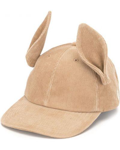 Brązowa czapka skórzana Undercover