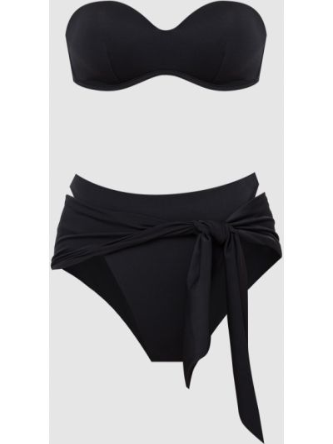Черный купальник с завязками Moeva