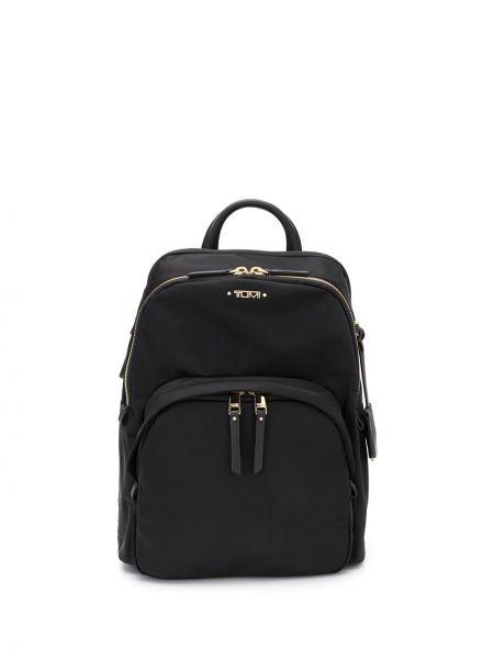Czarny plecak skórzany Tumi
