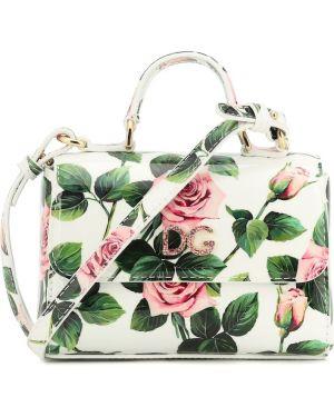 Biała torebka mini skórzana Dolce & Gabbana Kids