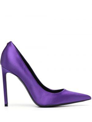 Фиолетовые кожаные туфли-лодочки на каблуке Tom Ford
