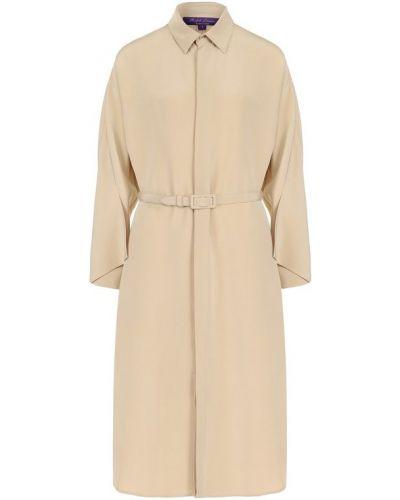 Платье с поясом платье-рубашка на пуговицах Ralph Lauren