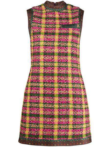 Платье на молнии в клетку Gucci