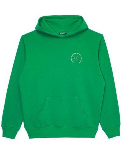 Zielona bluza z kapturem z haftem Local Heroes