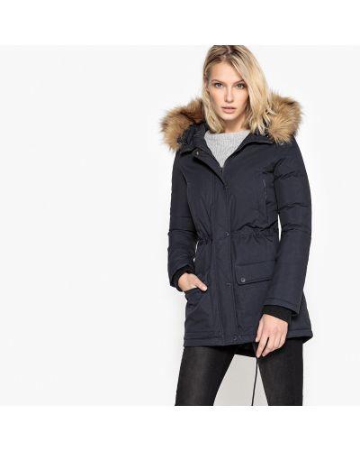 Пальто с капюшоном пуховое теплое Schott