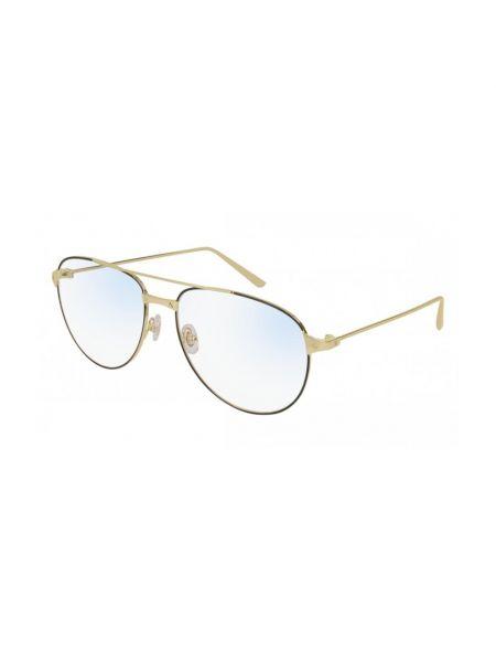 Żółte okulary Cartier