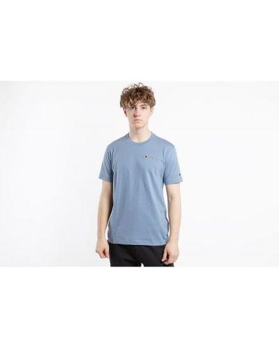 Niebieski t-shirt na co dzień bawełniany Champion