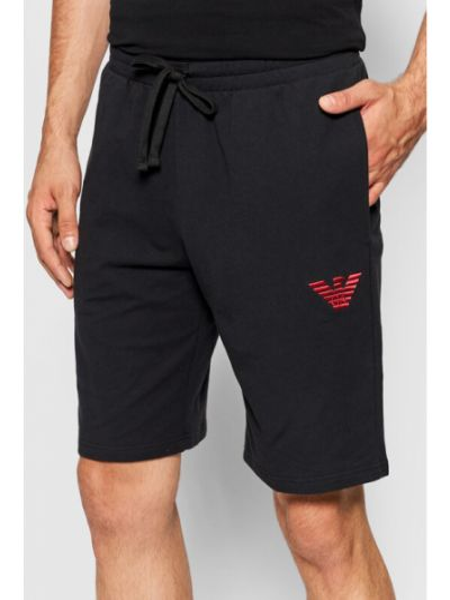Spodenki sportowe - czarne Emporio Armani Underwear