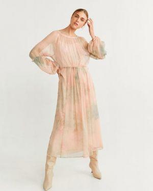 Платье розовое платье-комбинация Mango