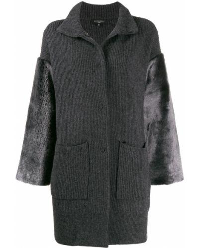 Коралловое шерстяное длинное пальто Antonelli