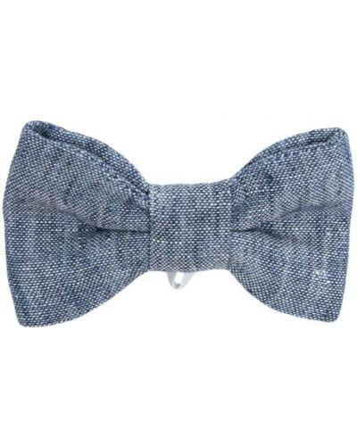 Синий галстук-бабочка с бабочкой Il Gufo