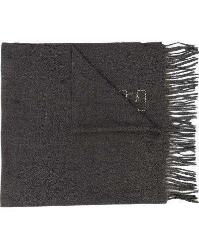 Серый шарф с кисточками из вискозы Zadig & Voltaire Kids
