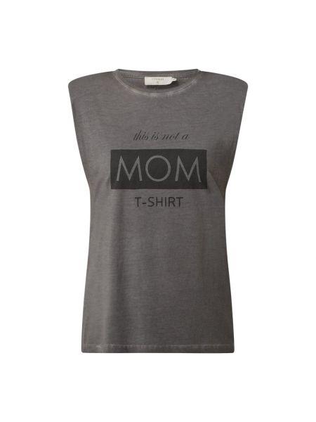 T-shirt z nadrukiem z printem Cream