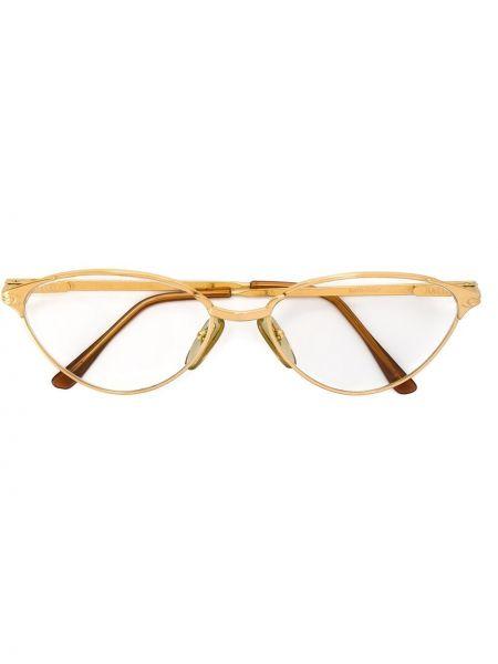 Желтые очки металлические Persol Pre-owned