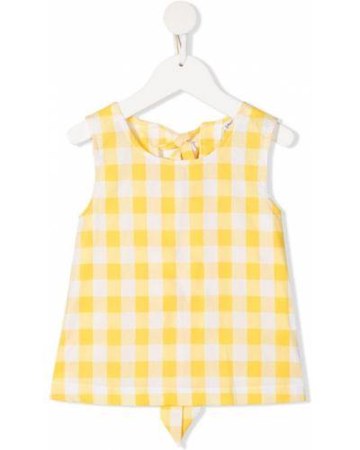 Блузка без рукавов в клетку с вырезом Piccola Ludo