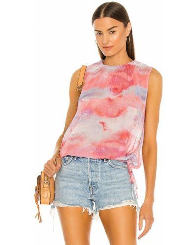 Блузка с декольте - розовая Bella Dahl