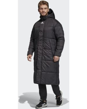 Городская теплая черная длинная куртка туристическая Adidas