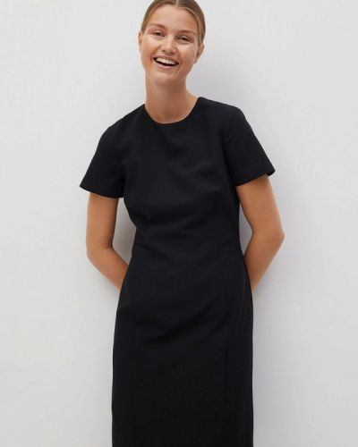 Черное платье-футляр Mango