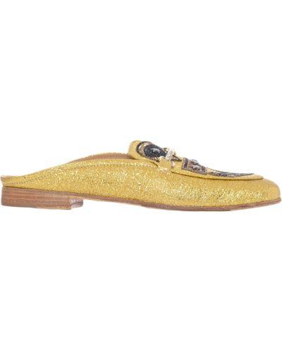 Мюли золотого цвета Lemare