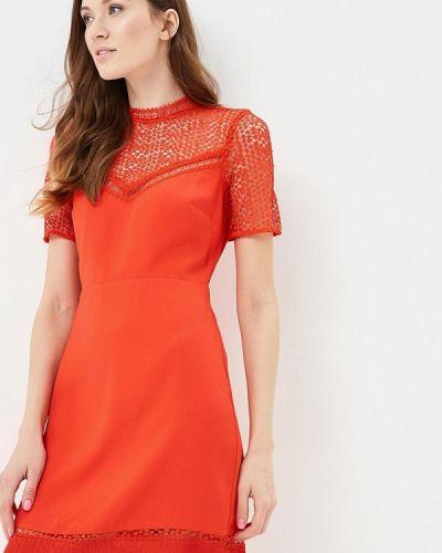 Красное платье Warehouse