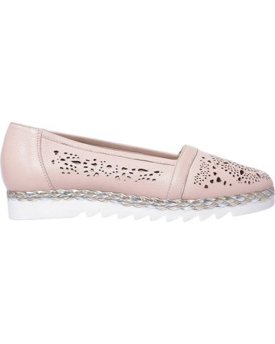 Туфли на танкетке на платформе кожаные Marzetti