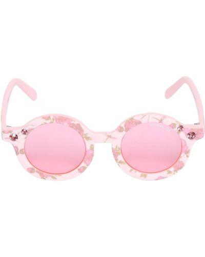 Różowy okulary przeciwsłoneczne okrągły Monnalisa