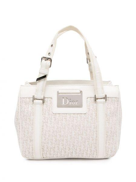 Biała torebka skórzana Christian Dior