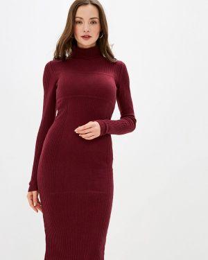 Платье бордовый вязаное Brusnika