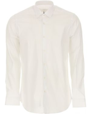 Biała koszula bawełniana Caliban