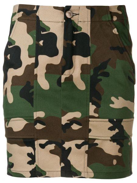 Юбка миди с карманами - зеленая Gcds
