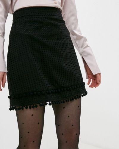 Черная прямая юбка карандаш Love Moschino