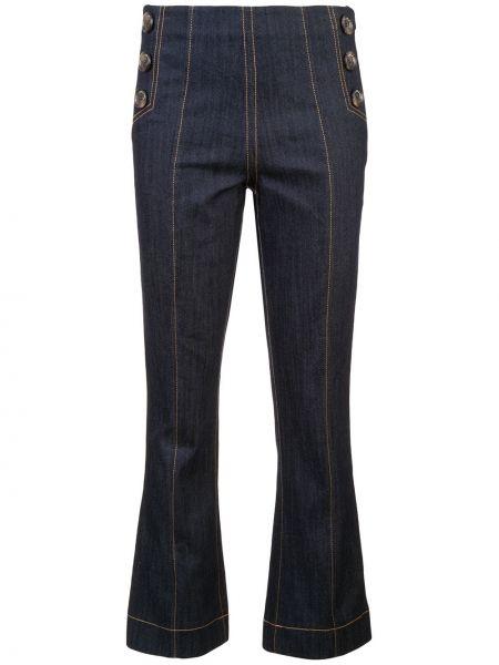 Niebieskie jeansy bawełniane Cinq A Sept