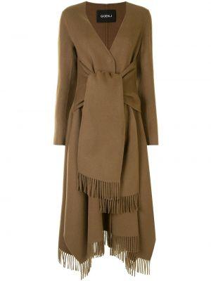 Шерстяное пальто - коричневое Goen.j