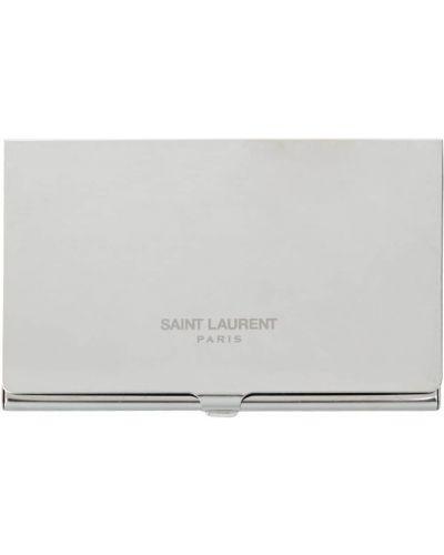 Серебряная визитница металлическая Saint Laurent