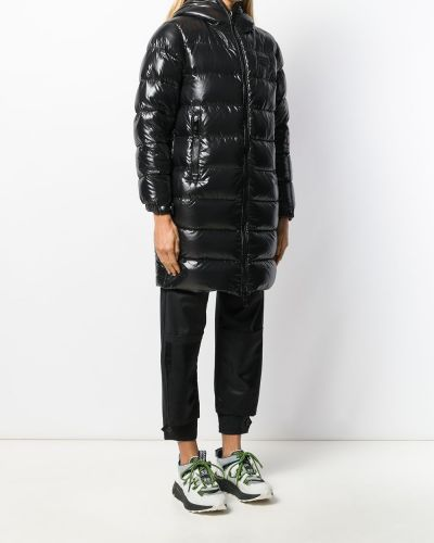 Пальто с капюшоном - черное Duvetica