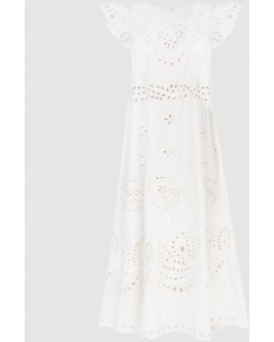 Белое платье миди Red Valentino