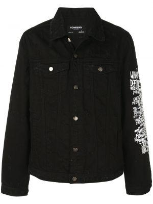 Хлопковая джинсовая куртка - черная Domrebel