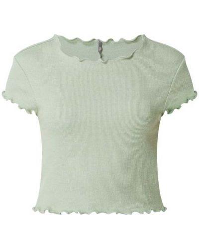 Zielona koszulka prążkowana Only