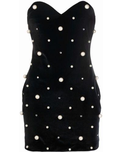 Платье в горошек - черное Amen.