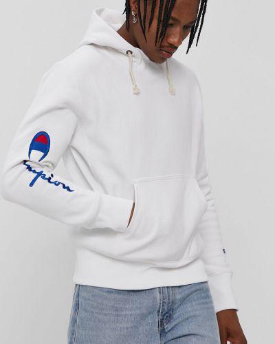 Biała bluza z kapturem bawełniana Champion